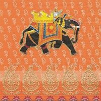 serviette papier éléphant effendi royal orange noir royaume