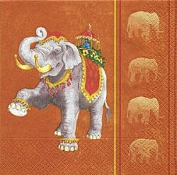 ANI237 ORANGE DRAPED ELEPHANT