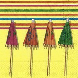 DIV044 UMBRELLAS ON YELLOW BACKGROUND