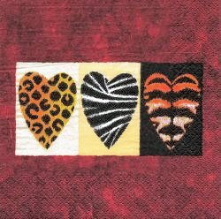 CEL021 THREE HEARTS ANIMALS SKIN