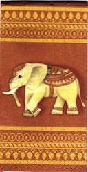 MOU.1067 ELEPHANTS ON RED BACKGROUND